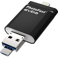 Gigastone×PhotoFast Lightningコネクタ+マイクロUSB+USB3.0対応フラッシュメモリー「i-FlashDrive EVO Plus」32GB GJIF-EVP332GP