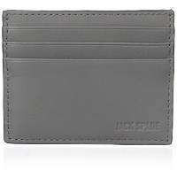 [ジャック・スペード] JACK SPADE カードケース GRANT LEATHER 6 CARD HOLDER W6RU0200 072 (CHARCOAL)