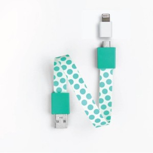 Mohzy Loop USB Cable with Apple Adapter Classic Loop - Dotty (MO5LO2-DO)