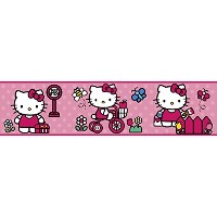 RoomMates ウォールステッカー World of HelloKitty Peel & Stick Border RMK1737BCS