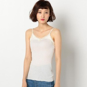 EYELET RIB LACE CAMI/アナザーエディション(Another Edition)