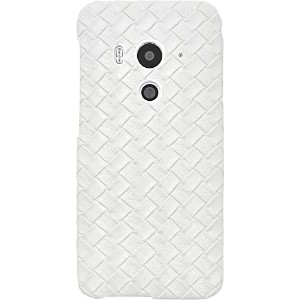 PLATA HTC J butterfly HTV31 用 メッシュ レザー デザイン ケース カバー 【 ホワイト 】 AHTV31-08WH