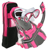U.S DIVERS(ユーエスダイバーズ) FLARE JR.LX/PIPER/MINNOW/TRAVEL BAG SET GUNMETAL PINK Ssize 253632