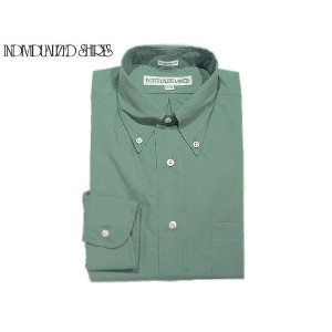 【期間限定30%OFF!!】INDIVIDUALIZED SHIRTS(インディビジュアライズド シャツ)/L/S STANDARD FIT B.D. POPLIN SHIRTS/sage green