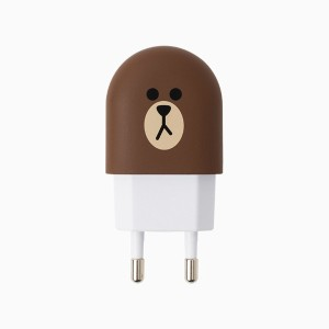 [NEW] LINE FRIENDS STORE OFFICIAL GOODS : Brown USB Power Adapter