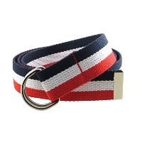 ◆Direct from USA◆ Canvas Web Belt D-Ring Buckle 1.25 Wide Metal Tip Multi-Color-