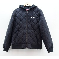 Supreme×Independent (シュプリーム×インディペンデント) Hooded Quilted Work Jacket サイズ:L カラー:ブラック【中古】【ストリート】【鈴鹿 併売品】...
