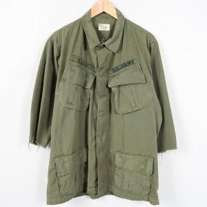 68年納品 米軍実品 U.S.ARMY BURGESS MFG. INC. COAT MAN'S COTTON W/R RIP-STOP POPLIN OG 107 CLASS 1 袖カットオフ...