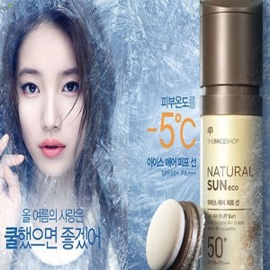 [The face shop] -5C cooling Natural Sun ICE Air puff / sun clear / SPF50+ PA+++ / Sun protect