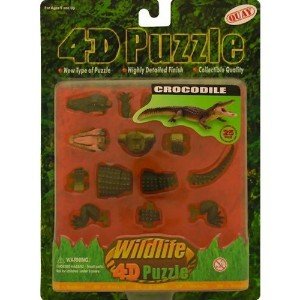 Crocodile 4d Animal Puzzle