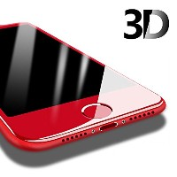 PZX iPhone6 iPhone6s ガラスフィルム 赤 レッド 全面保護 アンチグレア 3D曲面 飛散防止 指紋防止 99%透過率 9H強度 0.15mm 気泡防止 (iPhone6/6s)