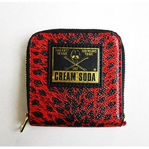 CREAM SODA ヒョウ柄コインケース 『RED』 ☆ PINK DRAGON クリームソーダ ☆ JIMMY'S DREAM