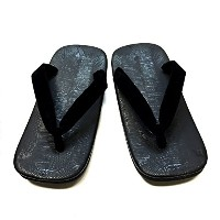 黒 草履 雪駄 Black Japanese Sandals size L