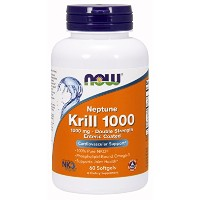 海外直送品 Now Foods Neptune Krill Oil, 60 Softgels 1000 mg
