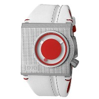 Edwin CHECKERED Men's 3 Hand Watch, Stainless Steel Case with Genunine Leather Strap