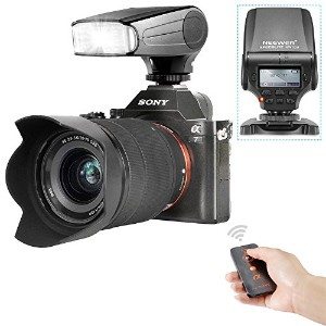 Neewer NW320 TTL LCD画面 LED補助プレビューフォーカスフラッシュスピードライトキット Sony A7/A7R/A7S/A7 II/A6000/NEX6に対応 (1...