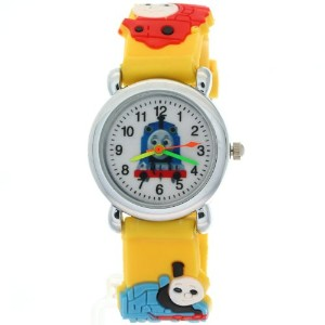 TimerMall CartoonブラックラバークォーツKids Watches Thomas & Friendsパターン