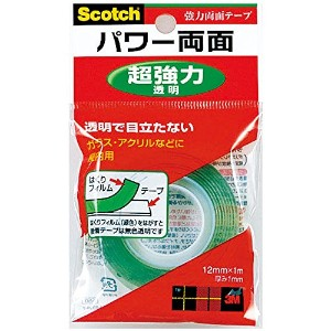 3M スコッチ パワー両面 超強力・透明 12mm×1m PV-2