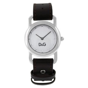 Women Dolce and Gabbana DW0641 ステンレススチール Silver Tone Dial クオーツ Leather レディス 女性用 腕時計 ウォッチ (並行輸入)