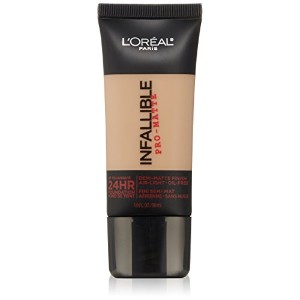 L'Oreal Paris Infallible Pro-Matte Foundation Makeup, 104 Golden Beige, 1 fl. oz[並行輸入品]