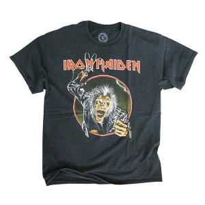 【GRANDSLAM EXCLUSIVE】VINTAGE CUSTOM ROCK TEE 2017【ビンテージ カスタム ロック Tシャツ 2017】【IRON MAIDEN 4】【WASHED...