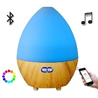 2 in 1 アロマ ディフューザー LEDライトBluetoothスピーカー 、 Aroma Diffuser with Bluetooth Speaker LED Light 超音波 加湿器...