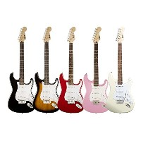 Squier by Fender/ Bullet® Strat® with Tremolo, Rosewood Fingerboard【スクワイア フェンダー】 (Black)