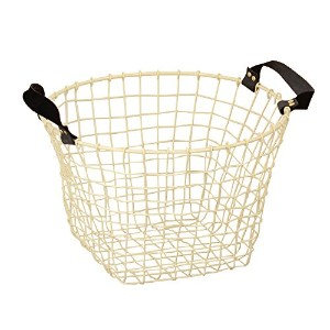 COCO WIRE HANDLE BASKET NO.03 IVORY