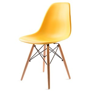 UNE BONNE(ウネボネ) EAMES CHAIR(イームズチェア) イームズ デザイナーチェア 椅子 ダイニングチェア イエロー
