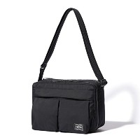 (ヘッド・ポーター) HEADPORTER YUKON SHOULDER BAG (L) BLACK