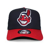 (ニューエラ) NEW ERA CLEVELAND INDIANS 【COOPERSTOWN D-FRAME TRUCKER MESH CAP/NAVY-RED】 クリーブランド インディアンス