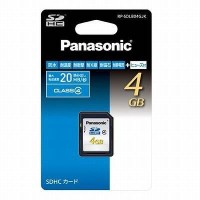 Panasonic 4GB SDHCメモリーカード CLASS4 RP-SDLB04GJK