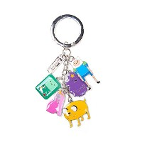 Adventure Time キーホルダー Keychain With Charms 新しい 公式 Metal