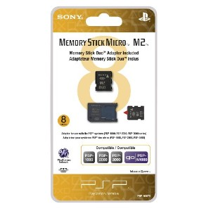8GB Memory Stick Micro Media + M2 Duo Adaptor (輸入版)