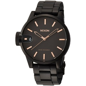 [ニクソン]NIXON CHRONICLE 44: ALL BLACK/ROSE GOLD NA441957-00 メンズ 【正規輸入品】