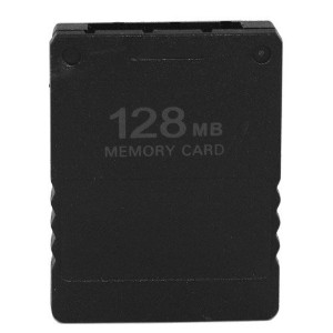 eForBuddy 128MB Game Save Memory Card for Sony PlayStation 2 PS2, Black by eForBuddy [並行輸入品]