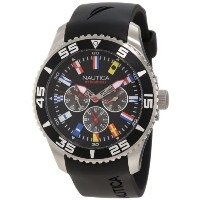 ノーティカ Nautica Men's N12626G NST 07 Flags Classic Stainless Steel Watch [並行輸入品]