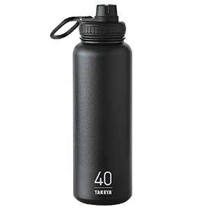 Takeya ThermoFlask Insulated Stainless Steel Water Bottle, 40 oz, Asphalt by Takeya