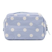 Cath Kidston キャスキッドソン ポーチ 2015年春夏 480666 Classic Box Cosmetic Bag With Nylon Zip Spot Dream Blue ...