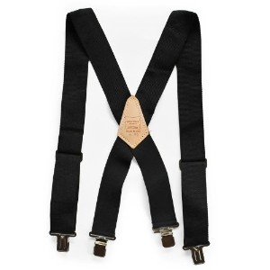HERITAGE LEATHER(ヘリテージレザー) HEAVY DUTY SUSPENDER BLACK Black 115