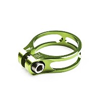 AEROZINE XSC1.0 ROAD MTB SEATPOST CLAMP/TI BOLT/31.8MM(For 27.2mm 使用)/11g/GREEN シートクランプグリーン [並行輸入品]