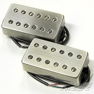 Bare Knuckle ベアナックル エレキギター用ピックアップ Aftermath humbucker Set Brushed Nickel Cover