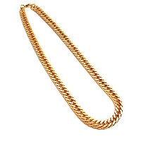 【AF-NE-BR-042】≪100cm W CURBED CHAIN BLING BLING NECKLACE≫ エースフラッグ ACEFLAG ブリンブリン 極太 ゴールドチェーン 正規品