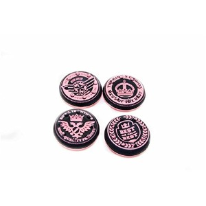 Thumbstick Grips for PS4 XBOX WII U Switch - Caps for all Controllers - Crown Pink