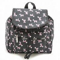LeSportsac レスポートサック リュック 9808 SMALL EDIE BACKPACK D700 Terrier Toss Black [並行輸入商品]