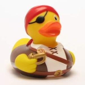 Rubber Duck Pirate with red bandana and eye patch - ???????