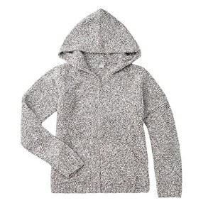Barefoot Dreams Cozychic Heathered Women's Zip Up Hoodie [ #665 ] (サイズ:L、カラー:Dove gray-White) ...