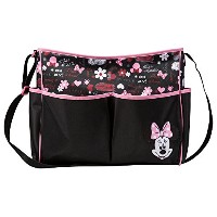 Disney Mickey Toss Heads Double Front Pocket Tote Diaper Bag, Gray/Red, Large by Disney