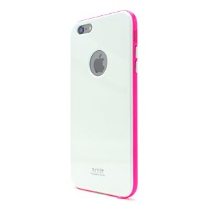 Tryit Slim Fit Case Neon Series (White×Hot Pink) for iPhone6 Plus