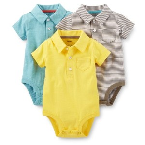 Carter's (カーターズ) :: ロンパース ボディスーツ 半袖 3パック 綿100% :: Little Surfer 3-Pack Polo Bodysuits :: NB (50...